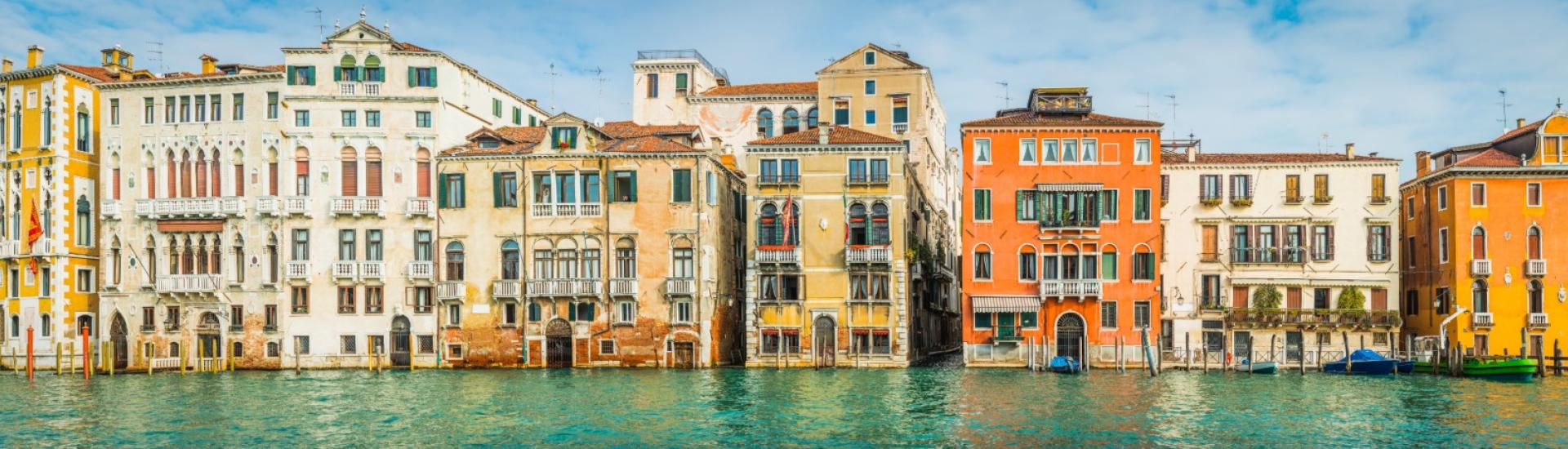 Photo of Venice villas along the Grand Canal.